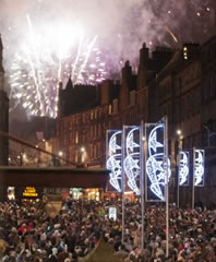 Hogmanay celebrations in Edinburgh